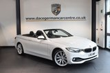USED 2015 15 BMW 4 SERIES 2.0 425D LUXURY 2DR AUTO 215 BHP + FULL LEATHER INTERIOR + FULL SERVICE HISTORY + 1  OWNER FROM NEW + PRO SATELLITE NAVIGATION + XENON LIGHTS + BLUETOOTH + HEATED SPORT SEATS + AIR-SCARF + REVERSE CAMERA + DAB RADIO + CRUISE CONTROL + HIFI SPEAKER SYSTEM + RAIN SENSORS + PARKING SENSORS + 19 INCH ALLOY WHEELS +