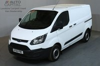 USED 2016 65 FORD TRANSIT CUSTOM 2.2 290 99 BHP L1 H1 SWB LOW ROOF    ONE OWNER, SERVICE HISTORY