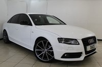 USED 2011 61 AUDI A4 2.0 TDI S LINE BLACK EDITION 4DR 141 BHP SERVICE HISTORY + LEATHER SEATS + BLUETOOTH + CRUISE CONTROL + PARKING SENSOR + MULTI FUNCTION WHEEL + CLIMATE CONTROL + 19 INCH ALLOY WHEELS