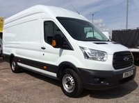 USED 2016 16 FORD TRANSIT JUMBO L4 H3 2.2 350 H/R 124 BHP 1 OWNER FSH MANUFACTURERS WARRANTY SPARE KEY 6 SPEED ELECTRIC WINDOWS BLUETOOTH
