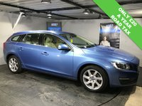 USED 2014 64 VOLVO V60 1.6 D2 SE LUX 5d 113 BHP Only £20 a year road tax  :  Bluetooth : DAB Radio   :   Full leather upholstery   :   Heated front seats   :   Heated screen   : Electric/Memory driver's seat   :   Rear parking sensors   :   Just 1 previous private owner : Fully stamped Volvo main dealer service history