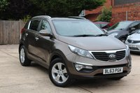 USED 2014 63 KIA SPORTAGE 1.6 2 5d 133 BHP * FULL DEALER HISTORY * LOW MILEAGE *