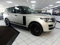 USED 2014 14 LAND ROVER RANGE ROVER 4.4 SDV8 VOGUE 339 BHP SLIDE PAN ROOF FLRSH BLACK PK!