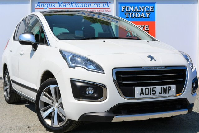 2015 15 PEUGEOT 3008 1.6 HDI ALLURE 5d Family SUV Looks Stunning in White