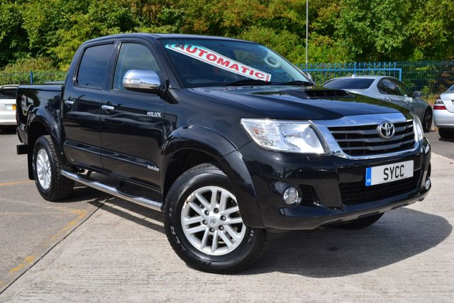 USED 2012 Y TOYOTA HI-LUX 3.0 INVINCIBLE 4X4 D-4D DCB 5d AUTO 169 BHP ~ LEATHER ~ SAT NAV  FULL GREY LEATHER ~ SAT NAV ~ REVERSE CAMERA ~ LIFT UP COLOUR CODED BACK
