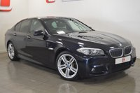 USED 2011 61 BMW 5 SERIES 3.0 530D M SPORT 4d 242 BHP SERVICE HISTORY + BLACK LEATHER + PRIVACY GLASS