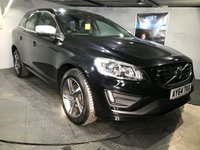 USED 2014 64 VOLVO XC60 2.0 D4 R-DESIGN 5d 178 BHP Only £30 a year road tax  : Bluetooth    :    DAB Radio    :    R-Design steering wheel + Contrasting leather upholstery   : Fully stamped service history