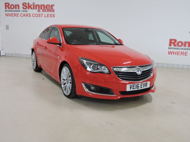 View our 2016 16 VAUXHALL INSIGNIA 2.0 ELITE NAV CDTI ECOFLEX S/S 5d 167 BHP with VXR Styling + 20in Alloys + Rear Priv