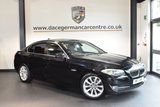 USED 2011 11 BMW 5 SERIES 2.0 520D SE 4DR 181 BHP + FULL LEATHER INTERIOR + BLUETOOTH + HEATED SPORT SEATS + HEATED MIRRORS + AUXILIARY PORT + PARKING SENSORS + 18 INCH ALLOY WHEELS +