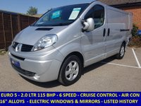 2014 RENAULT TRAFIC SL27 SPORT 115 BHP WITH AIR CON & ELECTRIC PACK £6995.00