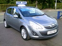 USED 2013 62 VAUXHALL CORSA 1.2 SE 5d 83 BHP FINANCE AVAILABLE EVEN IF YOU HAVE POOR CREDIT.