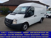 2013 FORD TRANSIT 100 280 SWB MEDIUM ROOF WITH AIR-CON FROM VIRGIN MEDIA £5995.00
