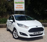 USED 2015 15 FORD FIESTA 1.25 ZETEC 5dr Air Con, Bluetooth, AUX & USB.