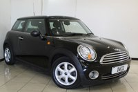 USED 2010 10 MINI HATCH ONE 1.6 ONE 3DR 98 BHP AIR CONDITIONING + MULTI FUNCTION WHEEL + RADIO/CD + ELECTRIC WINDOWS + ELECTRIC MIRRORS