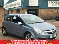 2007 VAUXHALL CORSA 1.2 CLUB A/C CDTI Air Blue Metallic Charcoal Cloth 3 Door 73 BHP £2495.00