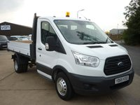 2015 FORD TRANSIT 2.2 350 Single Cab OSS Ford Tipper DRW 125 BHP with Bluetooth electric pack and more  £16495.00