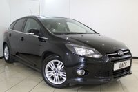 USED 2014 14 FORD FOCUS 1.0 TITANIUM NAVIGATOR 5DR 124 BHP FULL SERVICE HISTORY + SAT NAVIGATION + BLUETOOTH + PARKING SENSOR + CRUISE CONTROL + MULTI FUNCTION WHEEL + CLIMATE CONTROL + 16 INCH ALLOY WHEELS
