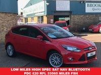 2014 FORD FOCUS 1.6 ZETEC NAVIGATOR TDCI 5 DOOR RACE RED 113 BHP £8295.00