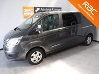 USED 2015 15 FORD TRANSIT CUSTOM 2.2 310 LIMITED LR P/V 1d 124 BHP CREW CAB PARKING SENSORS,LAND ASSIST CRUISE CONTROL, UPGRADED ALLOY WHEELS, 155 bhp, EXCELLENT VALUE FOR MONEY IN THIS CONDITION AND WITH THIS SPEC AND SERVICE HISTORY, THIS VAN HAS BEEN VERY WELL LOOKED AFTER AND MAINTAINED WITH NO EXPENSE SPARED, COMES WITH FULL FORD MAIN DEALER SERVICE HISTORY,      Please Call Now on 0151525 4400,  07967141248.