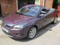 USED 2008 08 FORD FOCUS 2.0 CC3 2d 135 BHP LOW MILEAGE, MANY EXTRAS.FINANCE ME TODAY-UK DELIVERY POSSIBLE