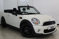 USED 2014 64 MINI CONVERTIBLE 1.6 ONE 2DR 98 BHP SERVICE HISTORY + BLUETOOTH + PARKING SENSOR + AIR CONDITIONING + RADIO/CD + 17 INCH ALLOY WHEELS