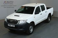 USED 2014 64 TOYOTA HI-LUX 2.5 ACTIVE 4X4 142 BHP MWB AIR CON ONE OWNER FROM NEW, SERVICE HISTORY