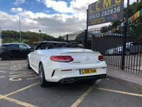 USED 2018 18 MERCEDES-BENZ C CLASS 4.0 AMG C 63 PREMIUM 2d AUTO 469 BHP STUNNING DIAMOND DESIGNO WHITE PAINT, DRIVING ASSISTANCE PACKAGE, AMG BLACK LEATHER INTERIOR, BLACK ROOF, 20 INCH FORGED COMPETITION ALLOY WHEELS, BURMESTER HIFI, 360 DEGREE CAMERA, AIR SCARF, SAT NAV, BIG SPEC, 1 OWNER