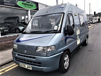 View our FIAT DUCATO TIMBERLAND FREEDOM 2 BERTH MOTOR HOME