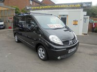 2011 RENAULT TRAFIC SPORT 2.0 DCI SIX SPEED   BLACK METALLIC AIR CON SAT NAVIGATION BLUE TOOTH ELECTRIC PACK ALLOYS ROOF BARS   £SOLD