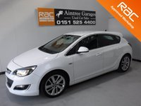 USED 2013 63 VAUXHALL ASTRA 1.6 SRI 5d 113 BHP FULL SERVICE HISTORY THERE HAS BEEN NO EXPENSE SPARE ON THE UP KEEP OF THIS CAR HAS IMMACULATE BLACK INTERIOR WITH BRUSHED ALLOY INLAYS, ALLOY WHEELS, ELEC MIRRORS, ELEC WINDOWS, CRUSE CONTROL, VOICE COMMAND, RADIO 6 CD CHANGER, REMOTE CENTRAL LOCKING, MULTI FUNCTION LEATHER CLAD STEERING WHEEL, ICE COLD AIR CON Information Please Call Now on 0151525 4400,  07967141248. Family Run Business Since 1990
