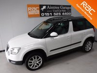 USED 2013 62 SKODA YETI 2.0 ELEGANCE TDI CR 5d 109 BHP GREAT MULTIPURPOSE CAR SITS THAT BIT HIGHER FOR GREAT VISIBILITY AND EASY ASSES COMES IN GLEAMING WHITE WITH FULL BLACK HEATED LEATHER WITH BLACK ROOF RAILS THIS CAR LOOKS AMAZING, DUAL CLIMATE CONTROL, ELEC FOLDING MIRRORS, BLUETOOTH PHONE PREP