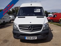 USED 2015 15 MERCEDES-BENZ SPRINTER 2.1 313 CDI LWB 1d 129 BHP ARCTIC WHITE 15 PLATE GENUINE MILES