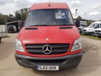 USED 2012 12 MERCEDES-BENZ SPRINTER 2.1 313 CDI LWB 1d 129 BHP RED PANEL VAN VERY GOOD ON FUEL READY FOR WORK