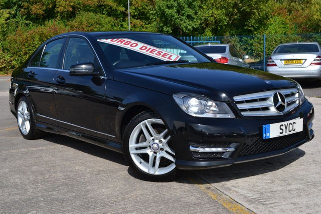 USED 2013 13 MERCEDES-BENZ C CLASS 2.1 C220 CDI BLUEEFFICIENCY AMG SPORT 4d 168 BHP FULL HEATED BLACK LEATHER ~ MATCHING MICHELIN PILOT SPORT TYRES ALL ROUND