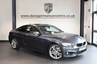 USED 2013 63 BMW 4 SERIES 3.0 435D XDRIVE M SPORT 2DR AUTO 309 BHP + FULL BLACK LEATHER INTERIOR  + FULL BMW SERVICE HISTORY + PRO SATELLITE NAVIGATION + BLUETOOTH + XENON LIGHTS + PANORAMIC SUNROOF + HEATED SPORT SEATS + DAB RADIO + CRUISE CONTROL + MEMORY PACKAGE + PARKING SENSORS + 19 INCH ALLOY WHEELS +