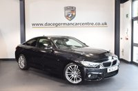USED 2016 16 BMW 4 SERIES 2.0 420I M SPORT 2DR 181 BHP WITH A SERVICE PLAN + FULL BLACK LEATHER INTERIOR + FULL BMW SERVICE HISTORY + 1 OWNER FROM NEW + PRO SATELLITE NAVIGATION + XENON LIGHTS + BLUETOOTH + HEATED SPORT SEATS + DAB RADIO + CRUISE CONTROL + AUTO AIR CON + RAIN SENSORS + PARKING SENSORS + 18 INCH ALLOY WHEELS +