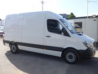 USED 2016 16 MERCEDES-BENZ SPRINTER 313 CDI MWB HI ROOF, 130 BHP [EURO 5], 1 COMPANY OWNER