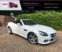 USED 2015 15 MERCEDES-BENZ SLK 1.8 SLK200 BLUEEFFICIENCY AMG SPORT 2d AUTO 184 BHP 1 OWNER FULL LEATHER PAN ROOF AIR SCARF AND HEATED SEATS LOW MILES
