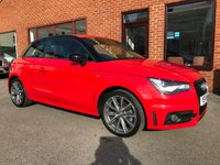USED 2014 14 AUDI A1 1.6 TDI S LINE STYLE EDITION 3d 103 BHP ZERO Road tax  : Bluetooth    :    S-Line steering wheel + part leather upholstery    :    Rear parking sensors  :  Fully documented service history