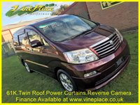 2002 TOYOTA ALPHARD 3.0 MZ, 4WD, 8 Seats, Auto,Twin Sunroof,Power Curtains. £6500.00