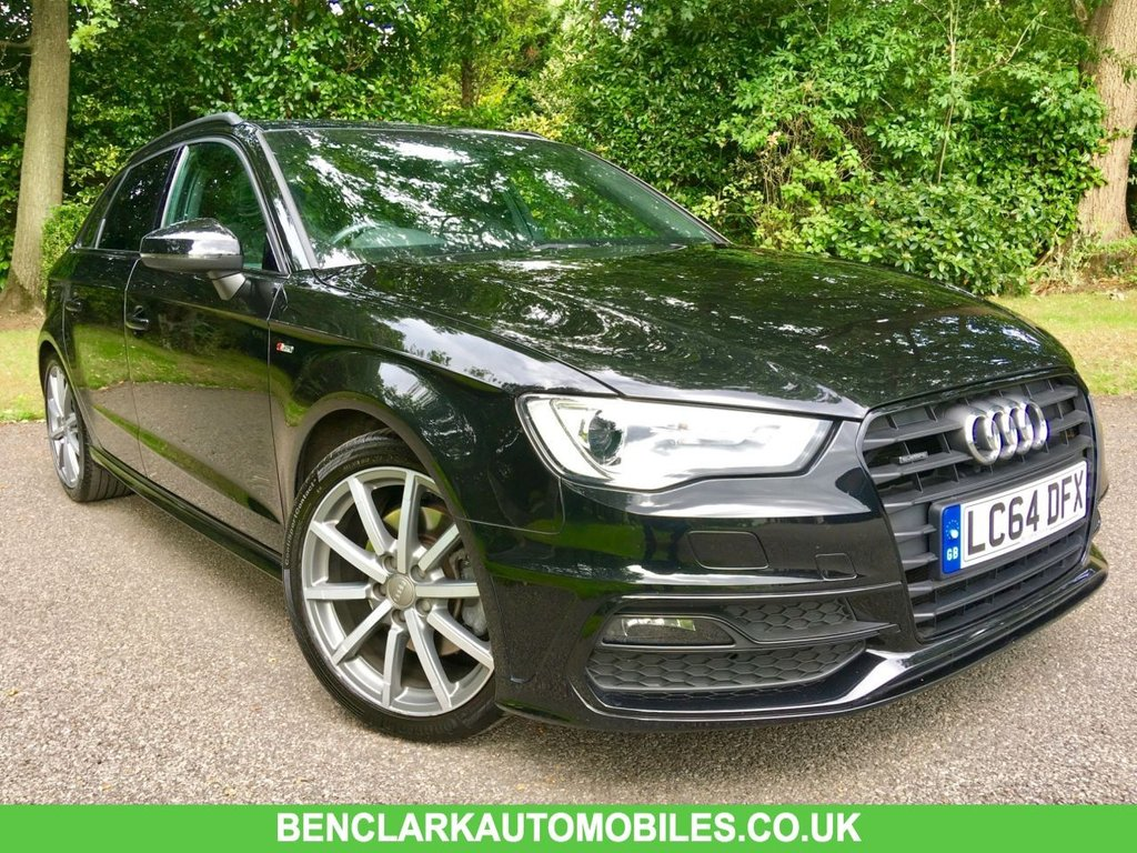 USED 2014 64 AUDI A3 1.8 TFSI QUATTRO S LINE 5d AUTO 180 BHP PANORAMIC SUNROOF / SATNAV / BLUETOOTH/FULL LEATHER VERY HIGH SPECIFICATION WITH 2 PRIVATE OWNERS ,BIG SERVICE DONE @56,577 MILES,, SUPPLIED BY US IN 2018 NOW BACK IN AS PART EXCHANGE