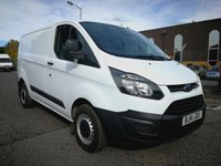 USED 2014 14 FORD TRANSIT CUSTOM 2.2 270 LR P/V 1d 99 BHP ONE OWNER - FULL SERVICE HISTORY - DIRECT LEASE COMPANY