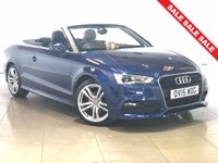 USED 2015 15 AUDI A3 2.0 TDI S LINE 2d AUTO 148 BHP Sat Nav/Black Leather/Air Con