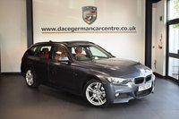 USED 2013 63 BMW 3 SERIES 3.0 330D XDRIVE M SPORT TOURING 5DR AUTO 255 BHP + FULL CORAL RED LEATHER INTERIOR + FULL BMW SERVICE HISTORY + PANORAMIC SUNROOF + BLUETOOTH + HEATED SPORT SEATS WITH MEMORY + HARMAN/KARDON SPEAKERS + LIGHT PACKAGE + DAB RADIO + RAIN SENSORS + PARKING SENSORS + 18 INCH ALLOY WHEELS +