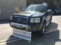 USED 2008 57 FORD RANGER 3.0 WILDTRAK 4X4 LWB D/C 1d 156 BHP **SERVICE INC**HALF LEATHER**TOW BAR**WILDTRACK**