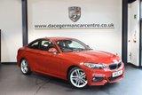 USED 2015 15 BMW 2 SERIES 2.0 220D M SPORT 2DR 188 BHP + FULL BMW SERVICE HISTORY + 1 OWNER FROM NEW + BLUETOOTH + SPORT SEATS + DAB RADIO + RAIN SENSORS + PARKING SENSORS + 18 INCH ALLOY WHEELS +