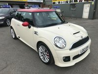 2012 MINI HATCH JOHN COOPER WORKS 1.6 JOHN COOPER WORKS 3d 211 BHP IN WHITE WITH A RED ROOF AND ONLY 55000 MILES £10699.00