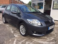 USED 2009 09 TOYOTA AURIS 1.6 T3 VVT-I 5d 1 Private Owner FSH