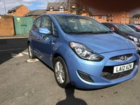 USED 2012 12 HYUNDAI IX20 1.4 ACTIVE 5d 89 BHP ONLY 4193 MILES FROM NEW!!CHEAP TO RUN , LOW CO2 EMISSIONS, £30 ROAD TAX, AND EXCELLENT FUEL ECONOMY!..GOOD SPECIFICATION INCLUDING AIR CONDITIONING, AUXILLIARY, USB CONNECTIONS, AND PARKING SENSORS!