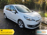 USED 2012 12 RENAULT GRAND SCENIC 1.5 DYNAMIQUE TOMTOM ENERGY DCI S/S 5d 110 BHP Very Nice Low Mileage Renault Grand Scenic in White with Seven Seats, Satellite Navigation, Half Leather Seats, Air Conditioning, Cruise Control, Alloy Wheels and Service History